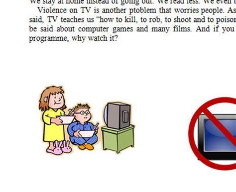 Disadvantage of tv essay